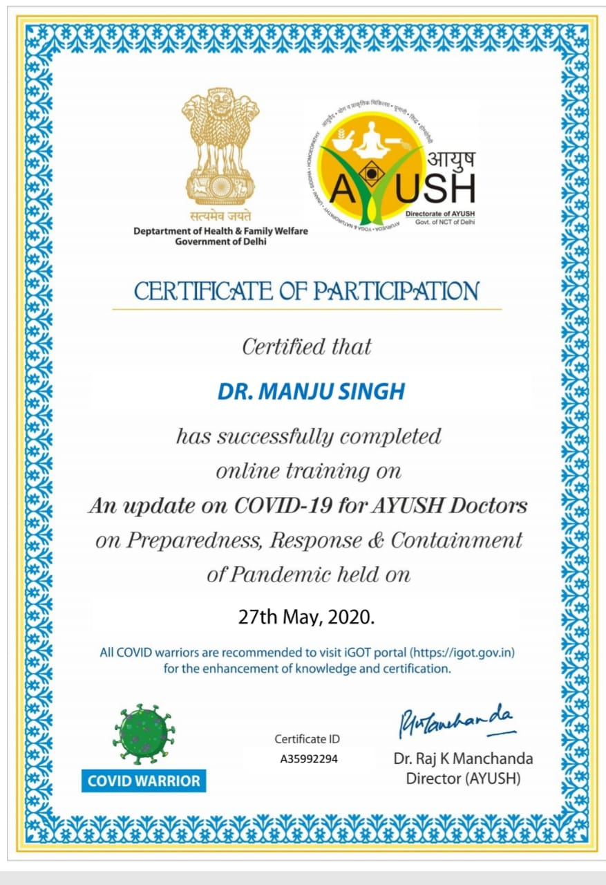 Covid-19 Training by Ayush Health Ministry
